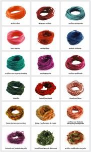 Tipos de hilos para crochet